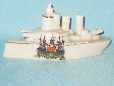 Corona China WW1 Battleship - SOUTHAMPTON crest