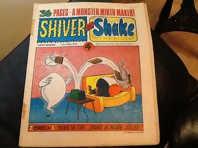 SHIVER AND SHAKE  Paper comic 1973 ISSUE NUMBER 20 . Still in great condition