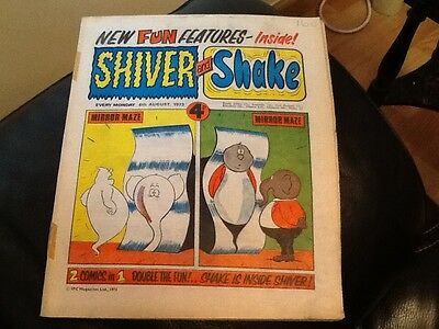 SHIVER AND SHAKE  Paper comic 1973 ISSUE NUMBER 22 . Still in great condition