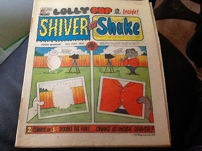 SHIVER AND SHAKE  Paper comic 1973 ISSUE NUMBER 19 Still in great condition