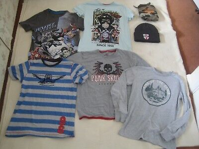 Mixed Bundle of Boy's Clothing x 7 Items - Age 9-10 Years - Gap, Justice League