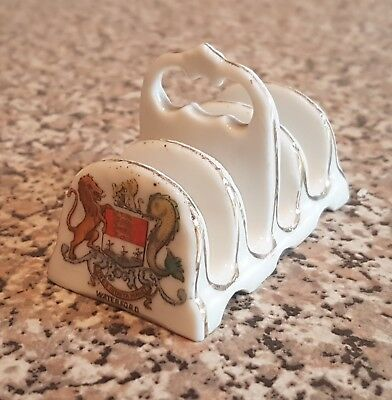 Waterford Crested china toast rack