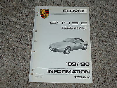 1989 1990 Porsche 944S2 944 S2 Cabriolet Shop Service Repair Workshop Manual