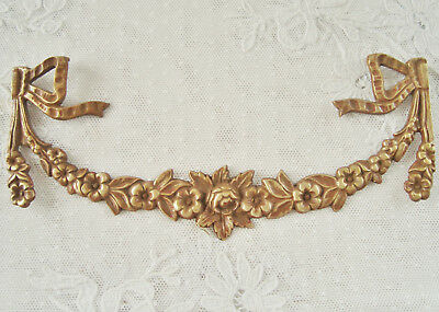 Superb Antique French Bronze Furniture Mount Decorative Element Pediment
