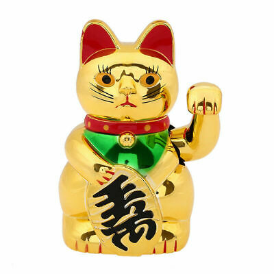 Battery Powered Waving Paw Welcome Fortune Cat Lucky Maneki Neko Home Car Decor