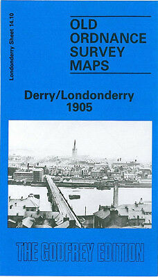 Old Ordnance Survey Map Derry/Londonderry 1905 Brook Park Carlisle Bridge
