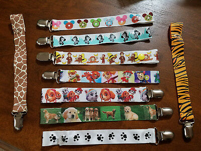 Homemade Pacifier Clips for Pacy, Soothies, Binky, Chewy - Animals!