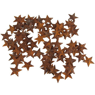 Mini Metal Rustic Stars Christmas Decor, Rust, 1-1/2-Inch, 100-Piece