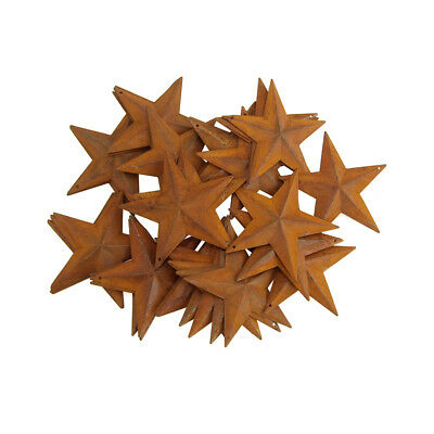 Mini Metal Rustic Stars Christmas Decor, Rust, 3-1/2-Inch, 50-Piece