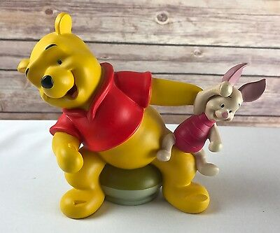 Vintage Disney Winnie The Pooh and Piglet Picture Photo Frame Holder