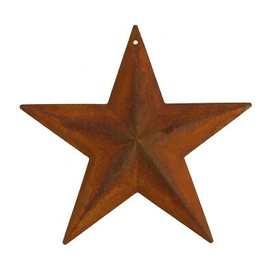 Metal Rustic Star Christmas Decor, Rust, 11-Inch