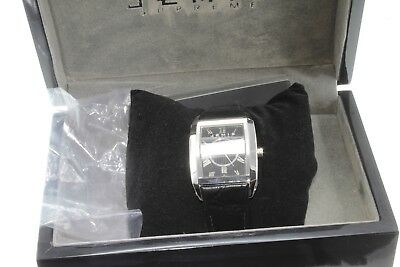 Brand New Luxury Jemis Black Gents watch in box, Mechanical with leather strap