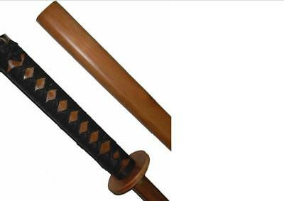 red oak bokken with scabbard and binding