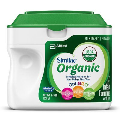 Similac Advance Organic Infant Formula with Iron Powder 23.2 Ounces Pack of 6