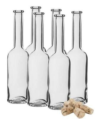 200ml - 20cl Glass bottles 6 or 12 bottles + Corks home brewing Free Delivery