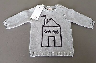 BNWT Seed Baby Crew Knit Jumper, Sizes 0000 - 000 RRP $39.95