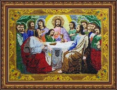 The Last Supper Icon beads icon religion beaded art holy faith