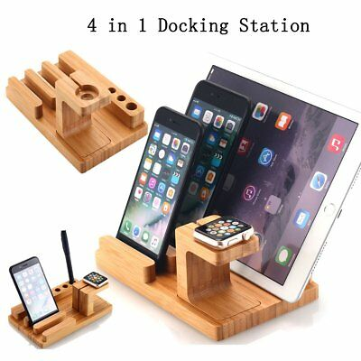 Bamboo Wood Charge Dock Holder Docking Station for iPhone 7 Apple Watch Series 2