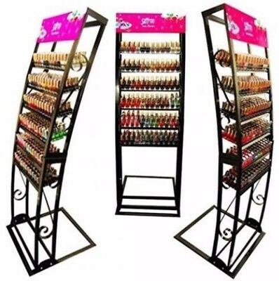 Nail Polish Metal Floor Display Stand Cabinet Stand Rack Organizer upto 400 pcs