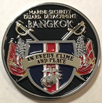 USMC MSG Det Marine Security Guard Detachment Bangkok, Thailand Challenge Coin