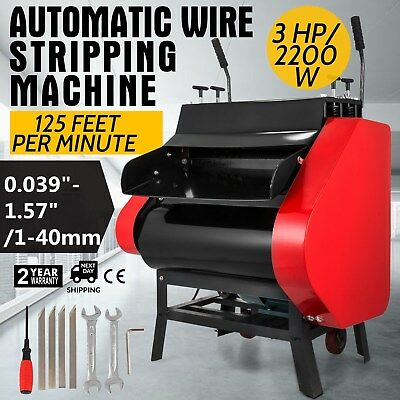 Automatic Wire Stripping Machine with Foot Pedal Stripper 125ft/Minute Recycling