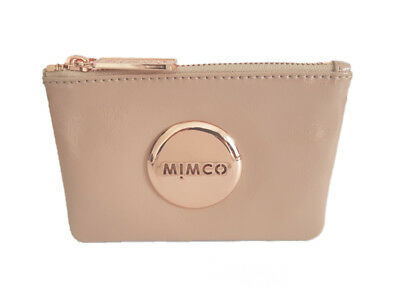 Mimco foundation rose gold patent leather small pouch