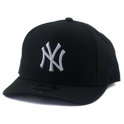 New York Yankees New Era MLB 9Fifty Pre-Curved Hat Genuine Baseball Cap In Black