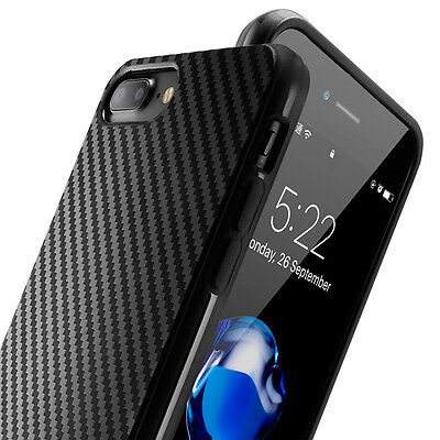 Thin Carbon Fiber Grain Rubber TPU Shockproof Case Cover for iPhone 8 Plus 6S