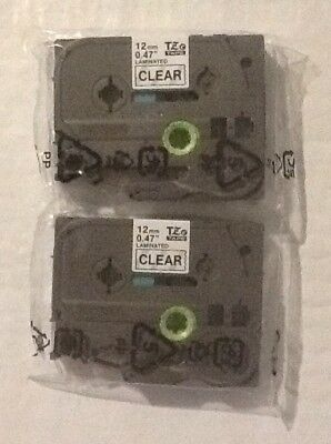 2 PACK Brother P-Touch TZe-131 BLACK / CLEAR Label Tape Ptouch TZ131OEM ORIGINAL