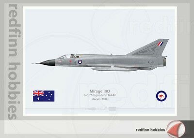 Warhead Illustrated Mirage IIIO RAAF 75Sqn  Darwin Aircraft Print