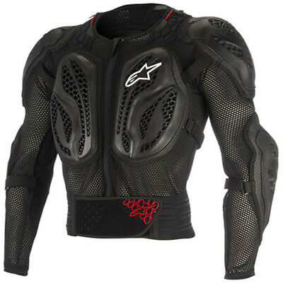 NEW Alpinestars Youth MX Bionic Action Black Kids Motocross Body Armour Jacket