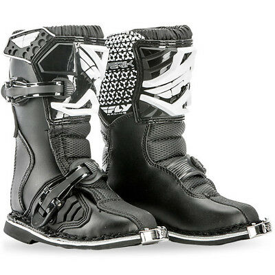 NEW Fly Racing 2018 Youth MX Maverik Black Kids Toddler PeeWee Motocross Boots