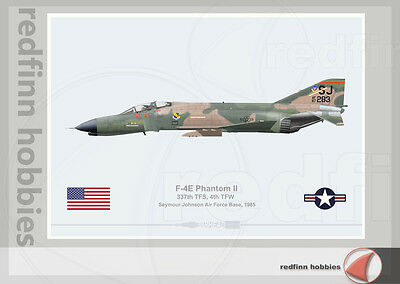 Warhead Illustrated F-4E Phantom II 337th TFS Seymour Johnson Aircraft Print