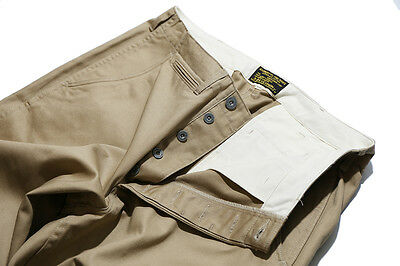 Repro W34 USAF Officer Chino Pant Vintage Original HBT M44 Pacific ww2 A2 Jacket