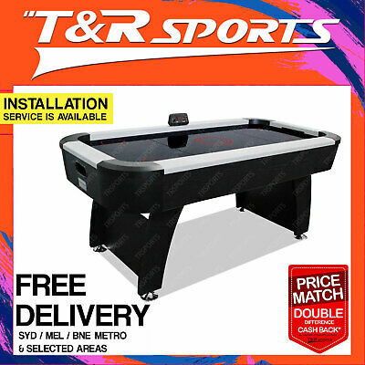 MACE 7FT 2-IN-1 Convertible Air Hockey Pool Table Blue Felt for Adult Kids Play