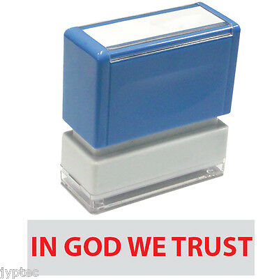 """JYP PA1040 Rectangle Stock Pre-Inked Rubber Stamp with """"In God We Trust"""""""