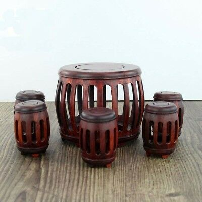 Rosewood carve crafts Ming Qing Classical miniature furniture Round table stool