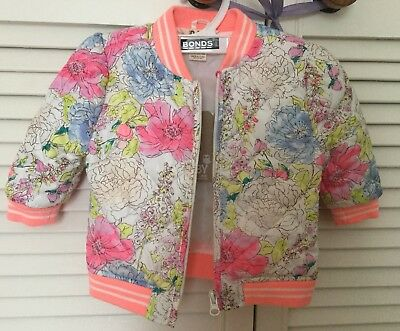 ⭐️NWT Cotton On Baby Girls Floral Jacket Size 0 (6-12 Months) FREE SHIPPING