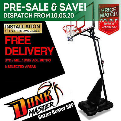 DunkMaster Basketball System S024 Stand/Ring/Hoop+Spalding NBA Basketball+Pump