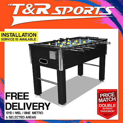 【20%OFF】4FT Black Soccer/Foosball Table for Kids Small Room FREE DELIVERY/T&C