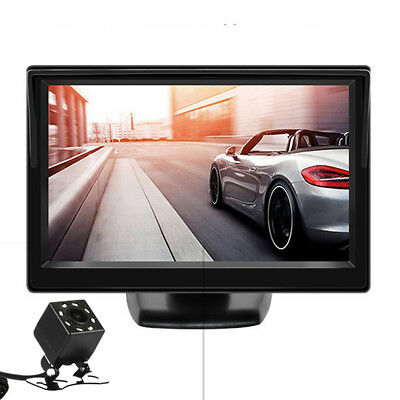 Five-inch high-definition car L C D monitor + night vision car reversing camera
