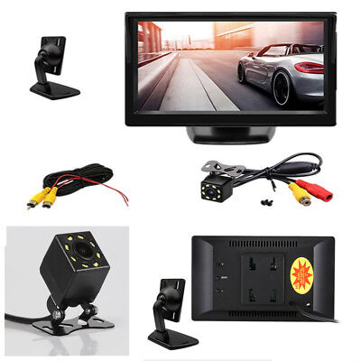 "5 ""TFT HD 800x480 LCD backlit display + LED night vision rear view revers camera"