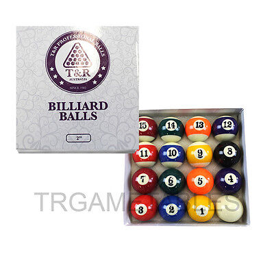 Pool Balls Set for Pool Billiards Snooker 2 Inch & 2-1/4 & 2-1/16 Available AU