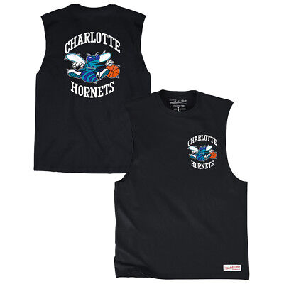 Charlotte Hornets Mitchell & Ness NBA HWC Muscle Tee - Black