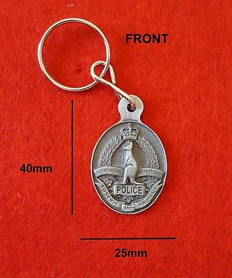 Northern Territory Police Pewter Style Metal Key Ring