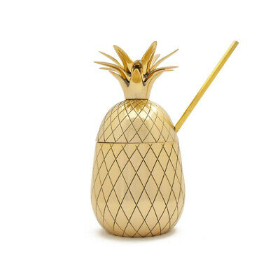 NEW W&P Design Large Pineapple Cocktail Tumbler Brass