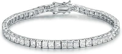 10ct S-Link Tennis Bracelet with Diamonds in 18k Yellow Gold Perfect Finish