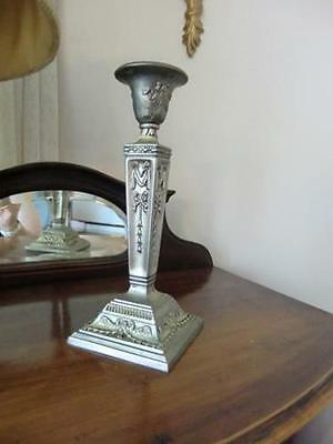 1 Candle Holder Vintage silver plate Tall  Candlestick european pre owned