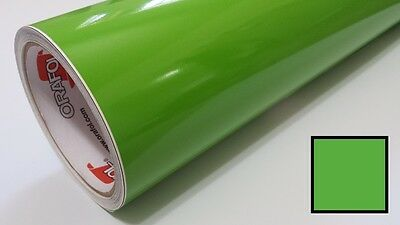 "Gloss Lime Green Vinyl 48""x30' Roll Sign Making Decal Supplies Craft Decoration"