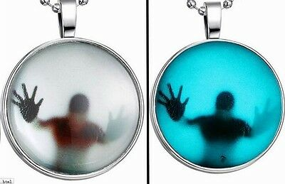 ZOMBIE WALKING DEAD GLOW IN THE DARK SCARY GOTH Necklace DEATH Gothic PENDANT